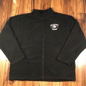 Disney black Mock neck fleece zip up jacket XL